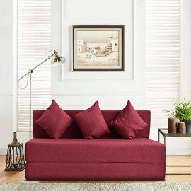 Aqua Blue dwell Jute Fabric Sofa bed online